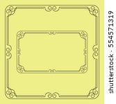 ornate black square and... | Shutterstock .eps vector #554571319