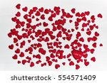 valentines day hearts... | Shutterstock . vector #554571409