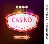 casino signboard retro style