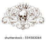 vintage decorative element... | Shutterstock .eps vector #554583064