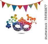festive carnival background for ... | Shutterstock .eps vector #554583877