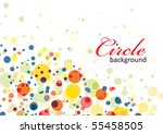 colorful particle background ...