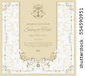 invitation card with floral... | Shutterstock .eps vector #554590951