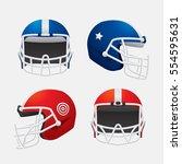 vector of american football ... | Shutterstock .eps vector #554595631