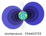 magnetic field surrounding... | Shutterstock . vector #554603755