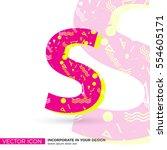 modern font  vector letter s | Shutterstock .eps vector #554605171