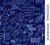nanotechnology and physics... | Shutterstock .eps vector #554613214