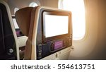 closeup lcd rear seat on the... | Shutterstock . vector #554613751