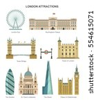 london architecture. vector... | Shutterstock .eps vector #554615071