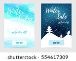 winter sale banners | Shutterstock .eps vector #554617309