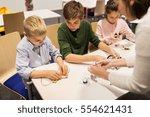education  children  technology ... | Shutterstock . vector #554621431