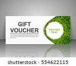 gift voucher template with...   Shutterstock .eps vector #554622115