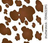 cow texture pattern repeated... | Shutterstock .eps vector #554622391
