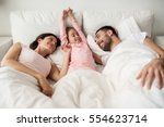 people  family and morning... | Shutterstock . vector #554623714