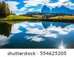 wonderful small lake reflects... | Shutterstock . vector #554625205