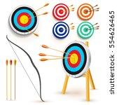 set of target with 3 arrows.... | Shutterstock .eps vector #554626465