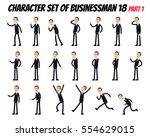 character set of businessman.... | Shutterstock .eps vector #554629015