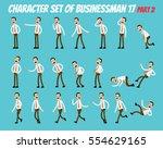 character set of businessman.... | Shutterstock .eps vector #554629165