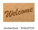 welcome mat isolated on a white ... | Shutterstock . vector #554629729