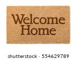 welcome home mat isolated on a... | Shutterstock . vector #554629789