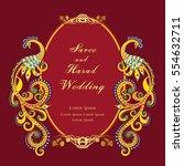 vintage invitation and wedding... | Shutterstock .eps vector #554632711