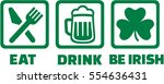 eat drink and be irish   icons... | Shutterstock .eps vector #554636431