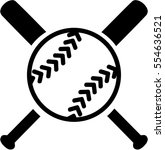 softball with crossed bats | Shutterstock .eps vector #554636521