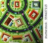 aerial top view flat design... | Shutterstock .eps vector #554637115