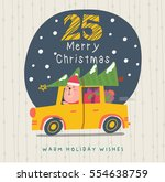 happy merry christmas   Shutterstock .eps vector #554638759