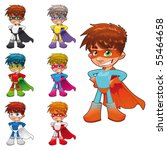 young superheroes. funny... | Shutterstock .eps vector #55464658