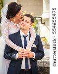 wedding. wedding day. bride and ... | Shutterstock . vector #554655475