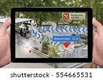 augmented reality technology  ... | Shutterstock . vector #554665531