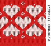 embroidered heart pattern.... | Shutterstock .eps vector #554666125