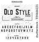 typeface. label. old style... | Shutterstock .eps vector #554666221