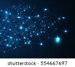world map point  line  surface... | Shutterstock .eps vector #554667697