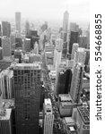 chicago skyline aerial view. an ...   Shutterstock . vector #554668855