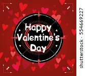 happy valentine's day card... | Shutterstock .eps vector #554669227