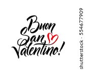 happy valentines day. italian... | Shutterstock .eps vector #554677909