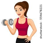 vector illustration of a woman... | Shutterstock .eps vector #554678221