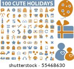 100 cute holidays signs. vector | Shutterstock .eps vector #55468630