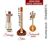 vector set of indian bowed and... | Shutterstock .eps vector #554688571