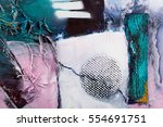 detail of modern abstract... | Shutterstock . vector #554691751