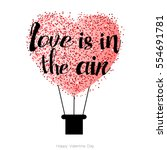 happy valentines day card with... | Shutterstock .eps vector #554691781