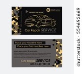 automotive service business... | Shutterstock .eps vector #554692669