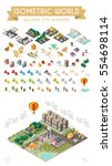 isometric world on white... | Shutterstock .eps vector #554698114