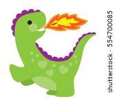 a cute little green dragon with ...   Shutterstock .eps vector #554700085