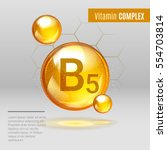 vitamin b5 gold shining pill... | Shutterstock .eps vector #554703814