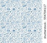 gadget icons vector seamless... | Shutterstock .eps vector #554704117