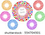 circles of hearts in a round... | Shutterstock .eps vector #554704501