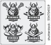 football  baseball  lacrosse... | Shutterstock .eps vector #554704519